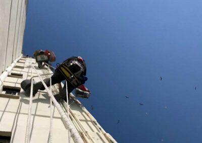 Reparação de conduta de gás e substituição de braçadeiras